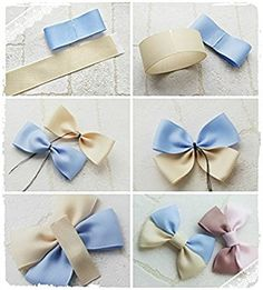 how to make hair bow accessories by terry Diy Hair Bows, Making Hair Bows, Ribbon Hair Bows, Diy Bow, Diy Ribbon, Ribbon Crafts, Hair Bow Tutorial, Diy Hair Accessories, Girls Bows