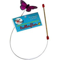 Wand toys have unique features that can increase the fun and exercise value of interactive play sessions with your cat.Although our cats are too smart to mistake a toy moth or mouse for the real thing, the life-like actions of the toy prey, which you indirectly control through the wand, stimulate kitty's hunting instincts and inspire her to put on her thinking cap. Go Cat Butterflier Teaser Wand $5.25 Use discount code: superhappypets for 10% off #superhappypets #cats #fancypaws…