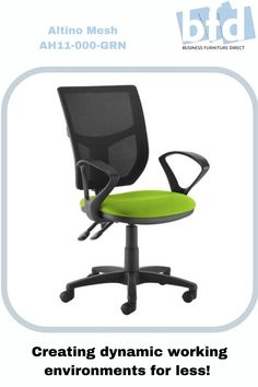 With its clean, modern styling, Altino is guaranteed to provide a contemporary feel to any office environment, due to the multi functions and ergonomic design of the chair. The sculptured moulded foam seat combines with the breathable slimline mesh back to keep users cool and comfortable in any office or meeting environment. Business Furniture, Home Office Furniture, Mesh Chair, Furniture Direct, Office Environment, Back Seat, Chair Fabric, Contemporary, Modern