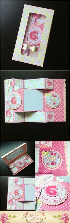 187. Balerina tri fold shutter card