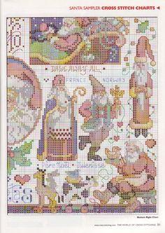 The world of cross stitching 039 - Santa sampler 5/6