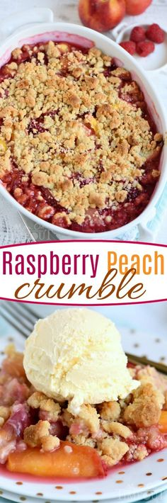 Easy Raspberry Peach Crumble Recipe
