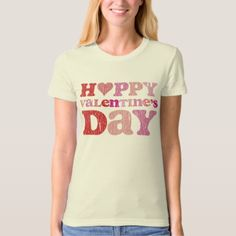 Retro Happy Valentine's Day T-Shirt #valentinesday #bemyvalentine #valentinesgifts #valentinescards #zazzle