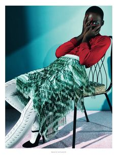 free spirit: lupita nyong'o by sharif hamza for dazed & confused february 2014