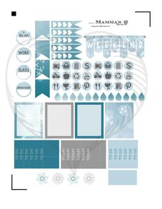 Hello and Welcome. The Snow & Ice weekly kit sticker set includes everything you need to plan a winter week in your Erin Condren Life Planner.