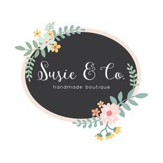 Premade Logo - Pretty Floral Premade Logo Design - Customized with Your Business Name! Graphic Design Studios, Graphic Design Services, Custom Logo Design, Custom Logos, Blog Header Design, Framed Initials, Pop Up Window, Watercolor Logo, Floral Logo