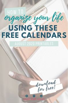 There are so many ways to use calendars each month, and these free printables are exactly where you'll want to start. #freeprintable #augustcalendar #printablecalendar Free Monthly Calendar, August Calendar, Free Printable Calendar, Free Printables, Organize Your Life, Daily Activities, New Hobbies, Getting Organized, Organization
