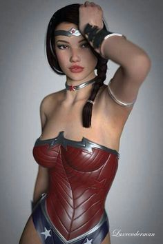 Cosplay- She looks to be the perfect age to be Trisha, but she has a small bust.