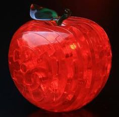 3D Jigsaw Puzzle Red Apple Crystal Puzzle
