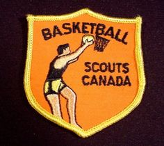 """Scouts Canada Basketball, 3 3/8"""" Tall, Scouting, Cubs, Beavers, Boy Scouts"""
