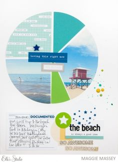 at the beach... scrapbook layout by Maggie Massey for Elle's Studio