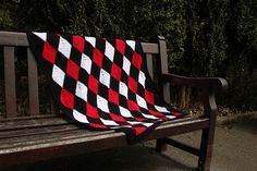 This listing is for a digital download of: Harlequin Diamond Crochet Blanket.