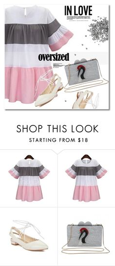 """Oversized dress"" by svijetlana ❤ liked on Polyvore featuring polyvoreeditorial, oversizeddress and twinkledeals"
