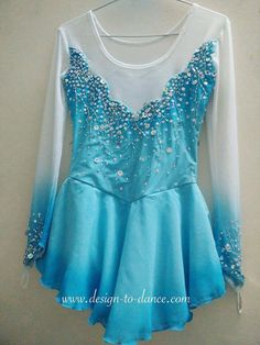 Frozen Elsa Competitive Figure Skating Dress With by DesigntoDance $239
