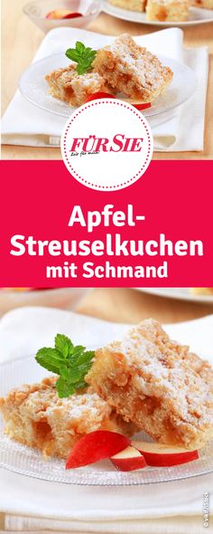 Rezept für Apfel-Streuselkuchen mit Schmand Cupcakes, French Toast, Bakery, Breakfast, Food, Apple Recipes, Foods, Morning Coffee, Cup Cakes