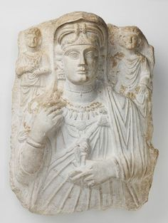 Funerary Relief of a Woman and Two Children, c. AD 150 Sculpture , Bust Roman , 2nd century AD Roman period, Middle Imperial, 98-235 AD Creation Place: Palmyra (Syria) Limestone
