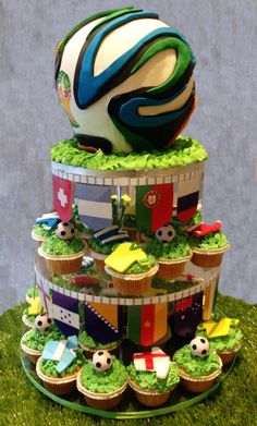 World cup 2014 cupcakes