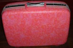 samsonite suitcase...mine was blue and I had 5 pieces that I got for graduation...1975!