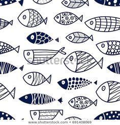 Find Cute Fish Vector Seamless Pattern stock images in HD and millions of other royalty-free stock photos, illustrations and vectors in the Shutterstock collection. Thousands of new, high-quality pictures added every day. Vector Pattern, Pattern Design, Design Design, Free Pattern, Fish Design, Vintage Typography, Vintage Logos, Retro Logos, Fish Vector