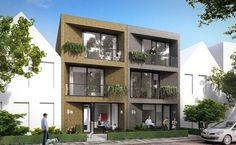row houses for first-time buyers (Ibb8A), facades of stuco, www.ikbouwbetaalbalbaarmet8a.nl