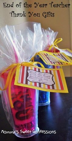 MOMMY'S SWEET CONFESSIONS: End of Year Teacher Thank You Gifts