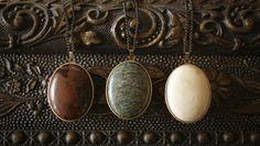 Labradorite - Solid Perfume Locket Necklace – For Strange Women
