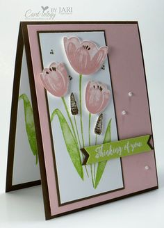 Stampin' Up Tranquil Tulips-Cardiology by Jari