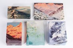 Mountain Range Wrapping Paper by Norman's Printery