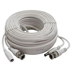 InstallerCCTV 100ft AllinOne Video HDTVI HDCVI AHD Analog 1080p Premade Cable for CCTV Security Cameras  White *** Read more reviews of the product by visiting the link on the image. Note: It's an affiliate link to Amazon