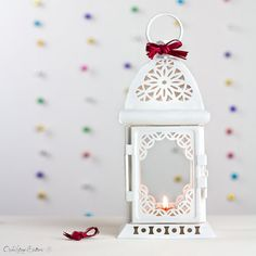 Party Decoration - White Ivory Lantern - Moroccan Candle Holder - Weddings - Nursery - Baby shower - Birthday party - Gender reveal