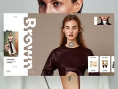 Brown designed by Slava Kornilov for Geex Arts. Connect with them on Dribbble; Website Design Inspiration, Website Design Layout, Web Layout, Layout Design, Website Designs, Ui Ux Design, Design Trends, Logo Design, Cv Website