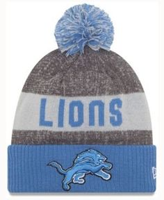 42f6a31b2 New Era Detroit Lions Sport Knit - Blue Adjustable Beanie Hats