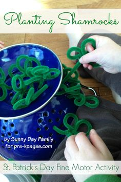 St. Patrick's Day Fine Motor Activity