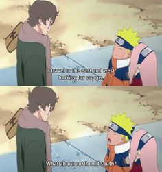 Naruto askin' the real questions Lol i love when he makes that face he looks like a kitty :)