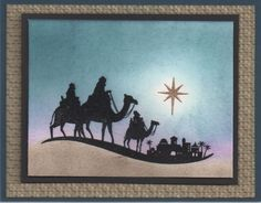 "Wishing you Peace, Love & Joy on Christmas Day and throughout the New Year!    ""Come to Bethlehem"" at Sunset. Visit my blog to download the step-by-step tutorial. (All supplies used are from Stampin' Up!)"