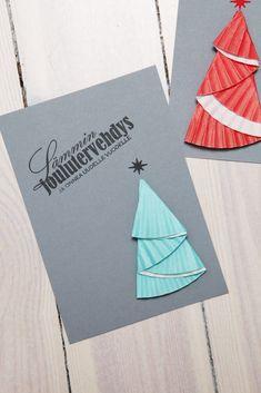 Taittele muffinivuoasta kuusi Christmas Crafts, Card Making, Children, Tableware, Cards, How To Make, Young Children, Boys, Dinnerware