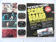Wonder Wizard Score Board TV Game 7706 Hockey Jai-Alai Tennis Handball * Vintage | eBay