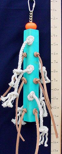 Cotton and Leather Pole Parrot Toys & Bird Toy Parts by abirdtoy, $8.00