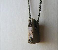 Vintage typewriter Strikeplate necklace...I have the letterpress version of this.