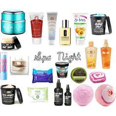 """Spa Night Essentials"" by misssaralisbeth on Polyvore"
