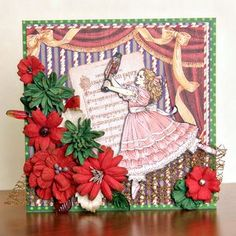 DT Member, Christine Ousley creates this beautiful card using Graphic 45 Nutcracker Sweet and Petaloo's Holiday Darjeeling flowers. Come see all the fun and inspirations on our blog.