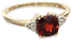 10k Yellow Gold, January BirthStone, Garnet and Diamond Ring, http://www.amazon.com/dp/B000WXQ324/ref=cm_sw_r_pi_awdm_MuYhtb0RED93Z