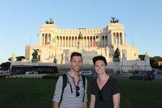 The boyfriend and Iinfront of the Monumento Nazionale a Vittorio Emanuele II