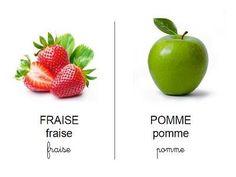 Vocabulaire fruits, Imagier des fruits à imprimer