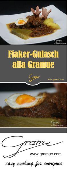 Fiaker Gulasch nach Wiener Tradition! #Gramue #Gramue.com #Gulasch #fiakergulasch #rind #Rezept #Frankfurter #wiener #traddition #Kartoffeln #Essiggurkerl #wachtel #eier #wachteleier #zwiebel Easy Cooking, Beef, Food, Potato, Goulash, Onions, Meals, Yemek, Steak