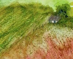 """Farm House"" watercolour gift card $4 by Rosie Kerr. SOLD"