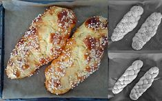 Hefezopf mit Lievito Madre Pastry Recipes, Bread Recipes, No Knead Bread, Nutrition, Mets, Pampered Chef, Calories, Healthy Baking, No Bake Cake