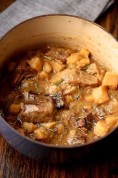 Pork Stew with Hard Cider, Parsnips, and Pancetta | Feed Me Phoebe