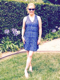 Stitch Fix Summer style review 2016 over 40 outfits. Rory Beca sundress, a forgiving a-line in a flowy fabric. Cool for summer!