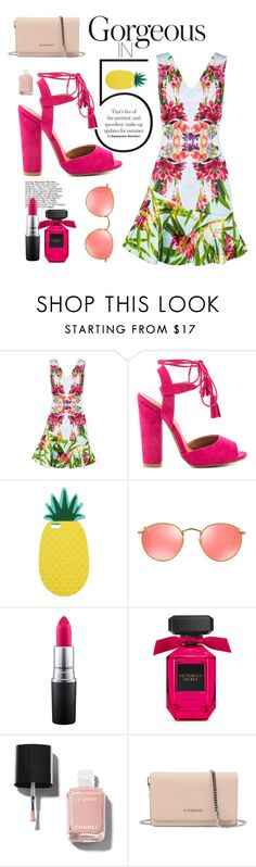 """Hot tropics"" by dalmafarkas ❤ liked on Polyvore featuring Karen Millen, Qupid, Miss Selfridge, Ray-Ban, MAC Cosmetics, Chanel and Givenchy"